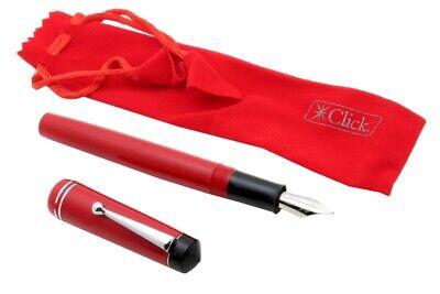 Click Glare Collection Diplomat Acrylic Fountain Pen BROAD NIB /& Converter RED