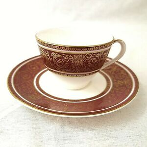 Royal-Doulton-Buckingham-Demitasse-Coffee-Cup-and-Saucer-H4971-First-Quality