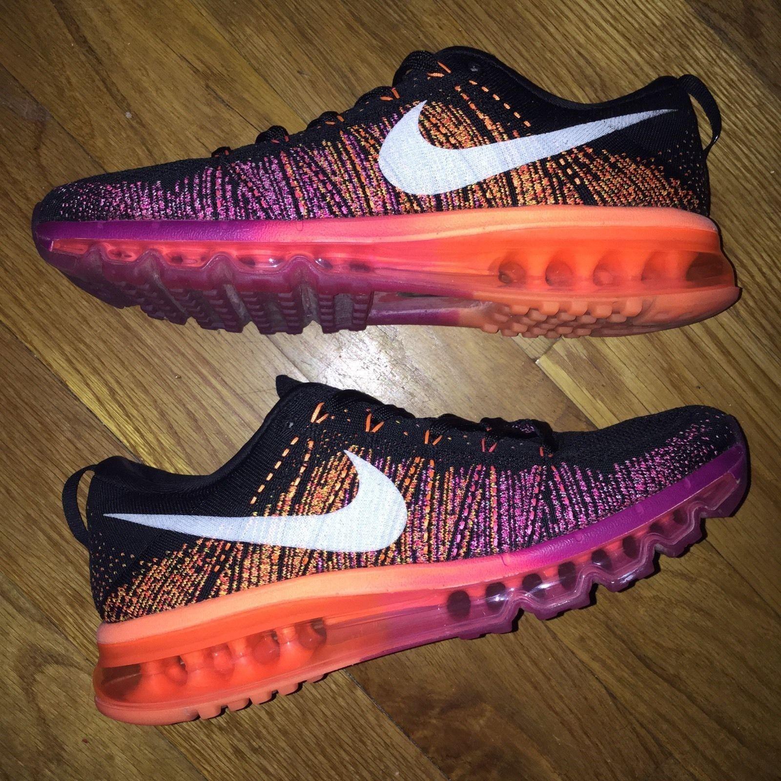 BUY NOW WHILE STILL HERE  Nike Flyknit Max Pink orange Women Sz 9.5 Men 8 jordan