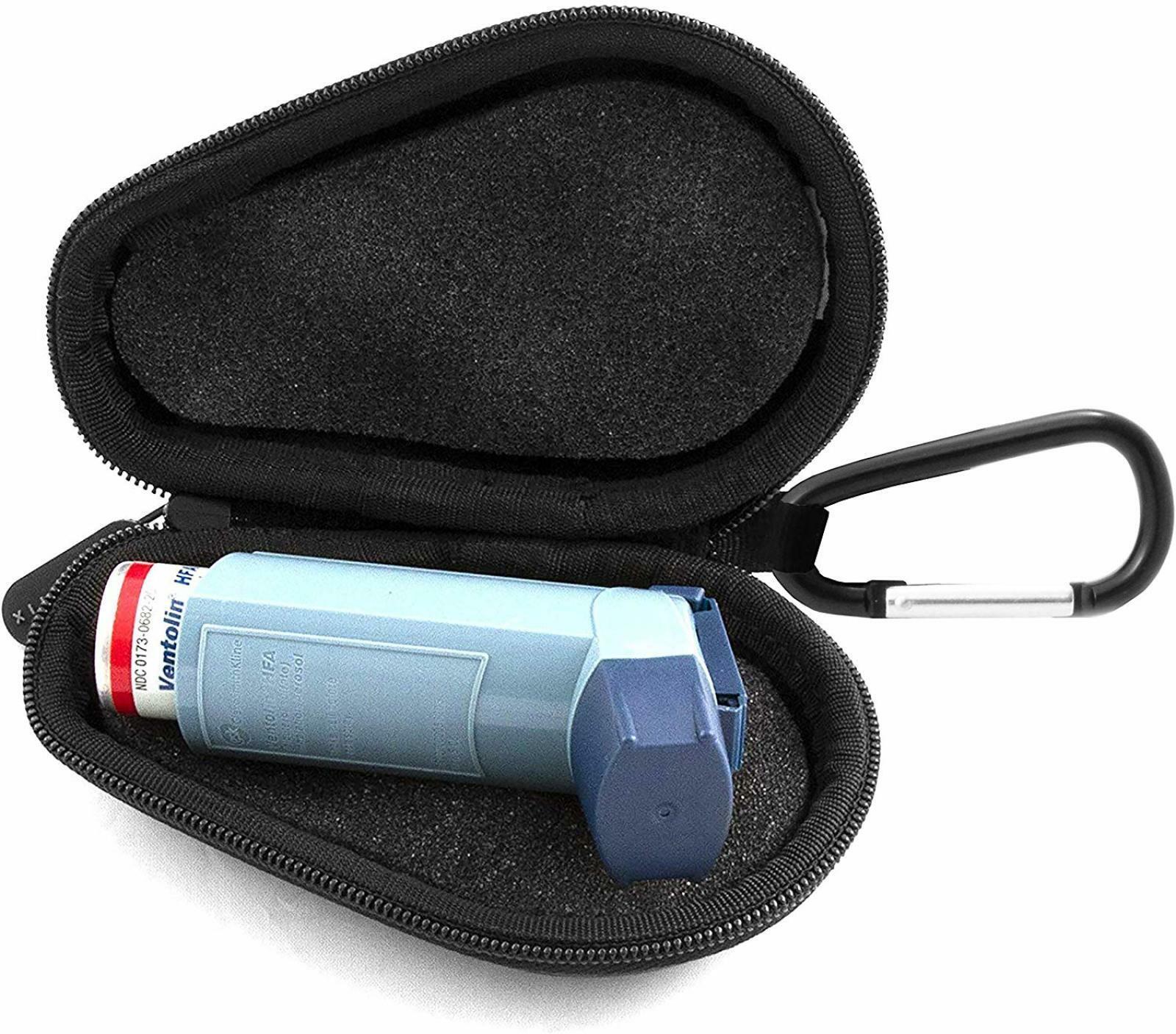 Protective Portable Health Inhaler Asthma Medicine Travel Carrying Case Storage