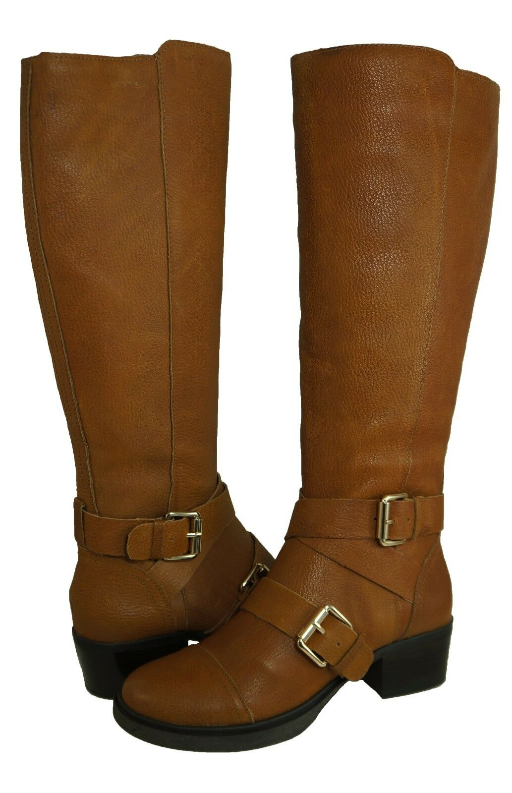 BCBG Generation Womens Marisol Brown Cognac Tall Knee High Pull-On Fashion Boots