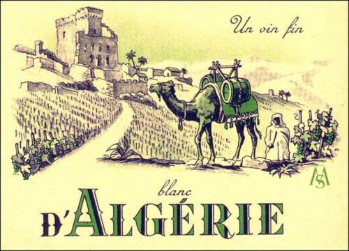 SPECTACULAR ALGERIA WHITE WINE LABELS of the 1950/'s ONE THOUSAND 1000