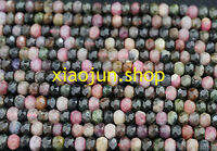 Natural 3X5mm Faceted Multicolor Tourmaline Gems Rondelle Loose Bead 15'' AAA