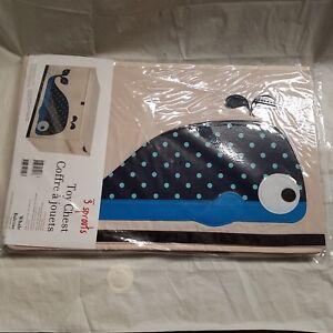 Whale Toy Bin Storage Chest Box Baby Room Kids Organizer