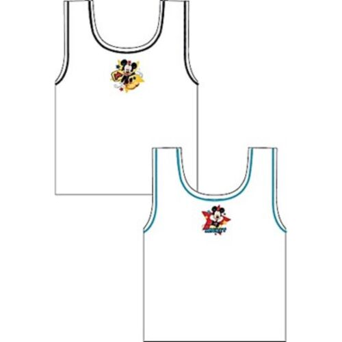 3-4 /& 4-5 YEARS NEW BOYS 2 IN A PACK DISNEY MICKEY MOUSE VEST SIZE 18-24 2-3