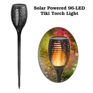 96-DEL-etanche-clignotante-flamme-Solaire-Torche-Lumiere-Lampe-de-jardin-outdoor-Lot
