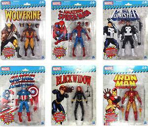 Marvel-Legends-VINTAGE-COLLECTION-WAVE-1-SET-Wolverine-Cap-Spider-Man