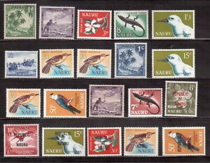 NAURU-1954-68-SELECTION-OF-20-MINT-STAMPS-H53