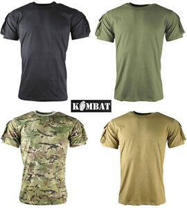 Mens-Army-Combat-Military-Tactical-Airsoft-T-Shirt-Short-Green-Black-Camo-New