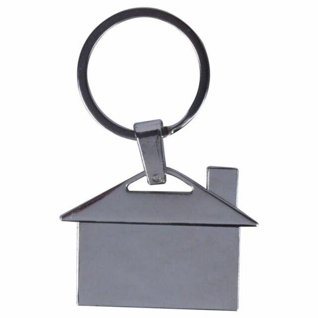 Creative Silver Metal Chromed House Model Keyring Pendant Gift Decor Y4C3