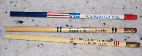1930s40s Advertising Lead Pencils 3 From Wisconsin Businesses