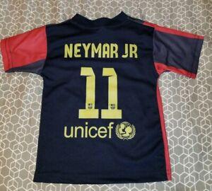 finest selection ee109 6f48b Details about FCB Barcelona Neymar JR #11 Jersey Youth size 1