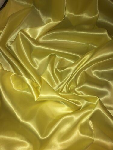 "1 mtr yellow lining satin fabric..58"" wide 147cm"