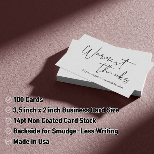 Thank You for Supporting My Small Business Cards 3.5 x 2 Inches - 100 pcs