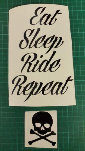 Motorcycle Harley Custom Chopper Tank Slogan Stickers Decals