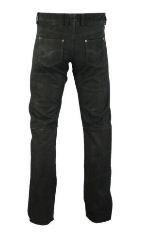 Awanstar 701 Lederhose nubukhose leather trousers Nabuk Pelle Pantaloni 30-40 waist