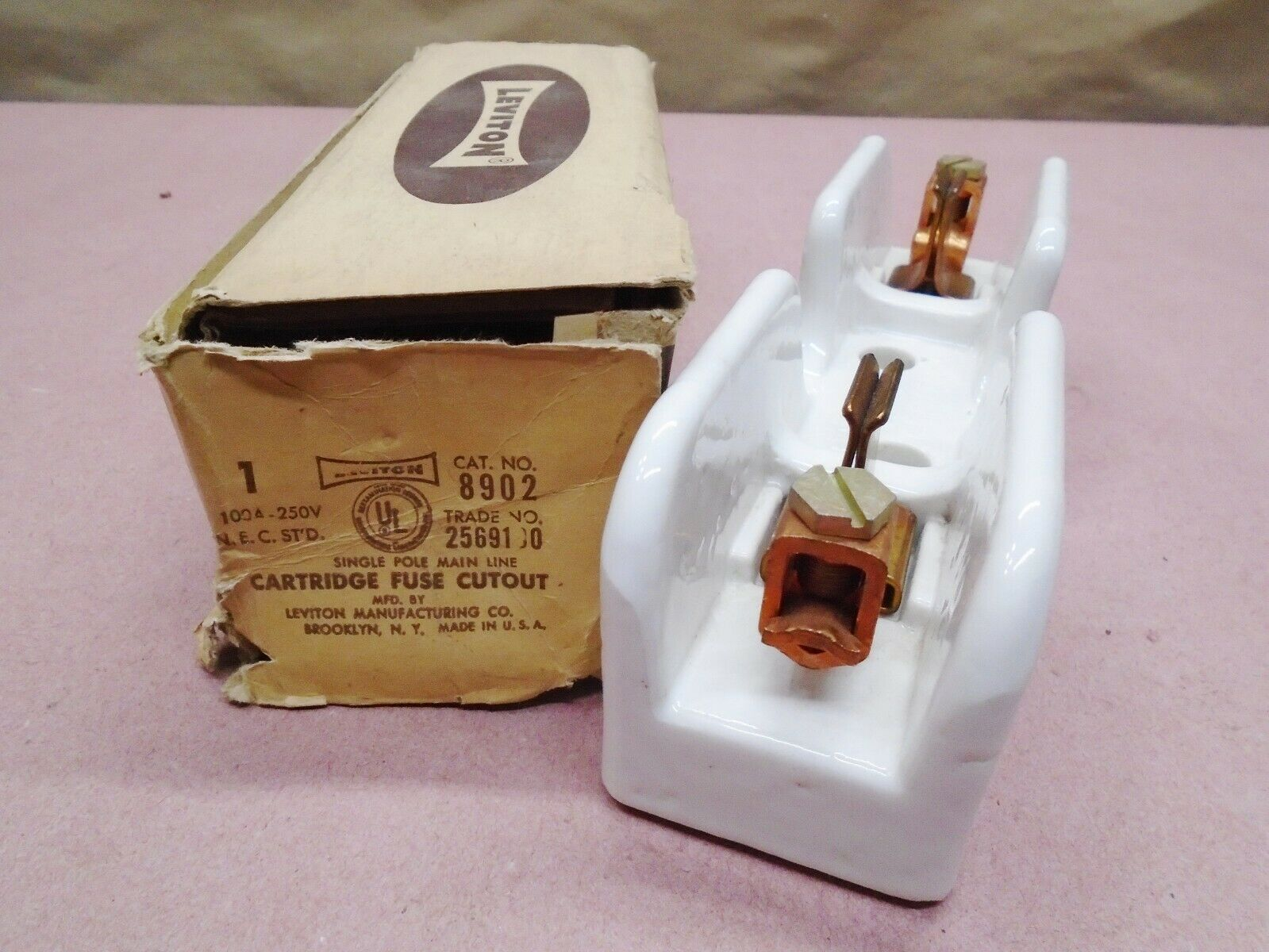 NEW Vintage Leviton 8902 Fuse Holder 61-100 Amp 250 Volt Ceramic/Porcelain  for sale onlineeBay