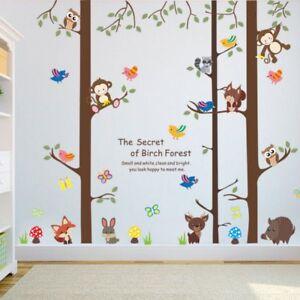 Wandtattoo-Wandsticker-Hase-Fuchs-Wald-Affen-Tiere-Kinderzimmer-Kind-134