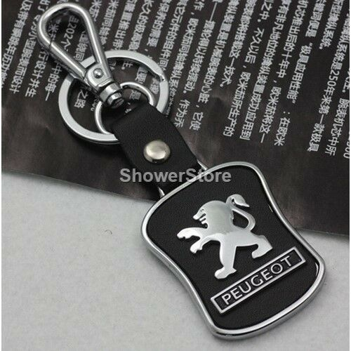 Peugeot Brand Keyring UK Seller Black Silver Key Ring Premium Quality
