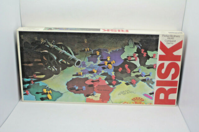 Vintage Parker Brothers 1980 Risk World Conquest Board Game (Missing All 5 Dice)