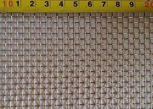 Edelstahl Drahtgewebe 3 mm Maschenweite, 0,8 mm Drahtstärke, 60 cm x ...