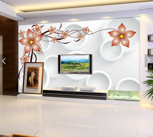 3D Circle Flower 669 Wallpaper Murals Wall Print Wallpaper Mural AJ WALL AU Kyra