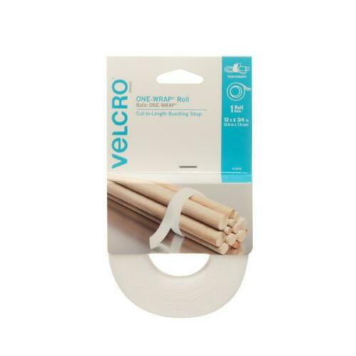 12Ft X 3//4In Velcro® Brand One-Wrap® Roll White
