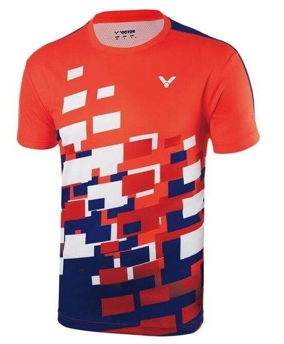 Victor Camiseta MALASIA Unisex red LTD Bádminton tenis de MESA Polo