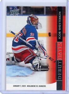 2020-21 Upper Deck Igor Shesterkin Debut Dates Insert - New York Rangers