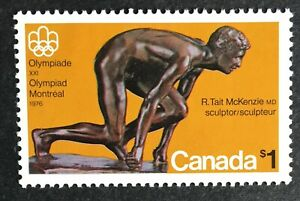 Canada #656 MNH Stamp 1975 - Olympic Sculptures - The Sprinter