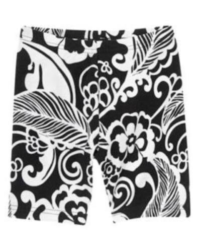NWT Gymboree Girls Yellow and Black Collection Floral Bike Shorts Size 4 5 /& 6
