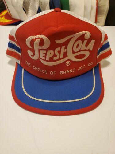 Vintage Pepsi Cola 3 Stripe Hat - Red - RARE