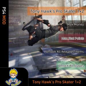 Tony-Hawk-039-s-Pro-Skater-1-2-PS4-Mod-Max-Money-Stat-Points-Rewards-Items-Stages