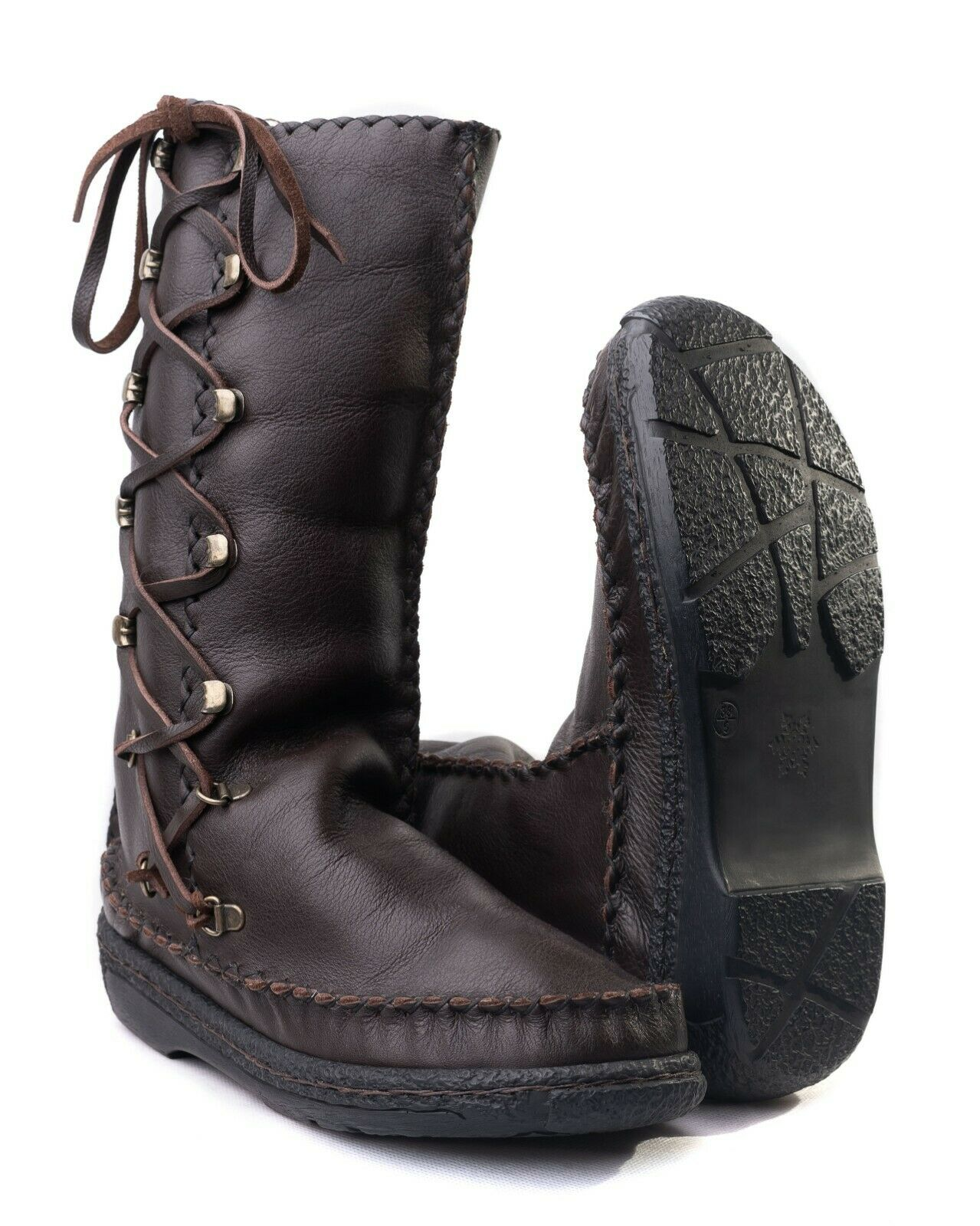 ladies brand new handmade leather boots with sheep skin lining sizes 5,6 or 7