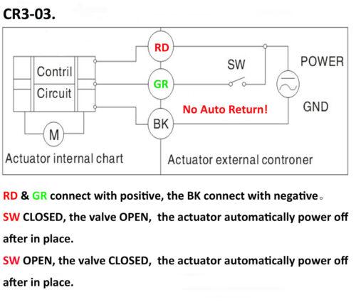 "Electrical Ball Valve HSH-Flo 1/"" DN25 3 Way SS304 Motorized Ball Valve"