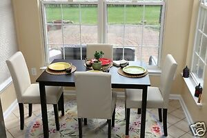 Image Is Loading 5pc Espresso Dining Room Kitchen Set Table 4