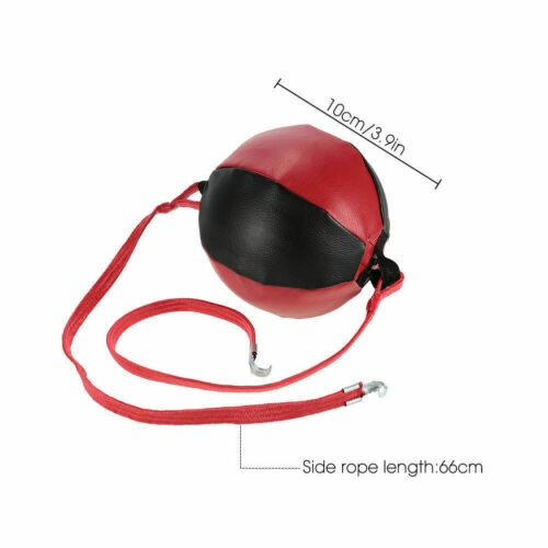 Heavy Leather Double End Dodge Speed Ball MMA Boxing Floor to Ceiling Punch Bag