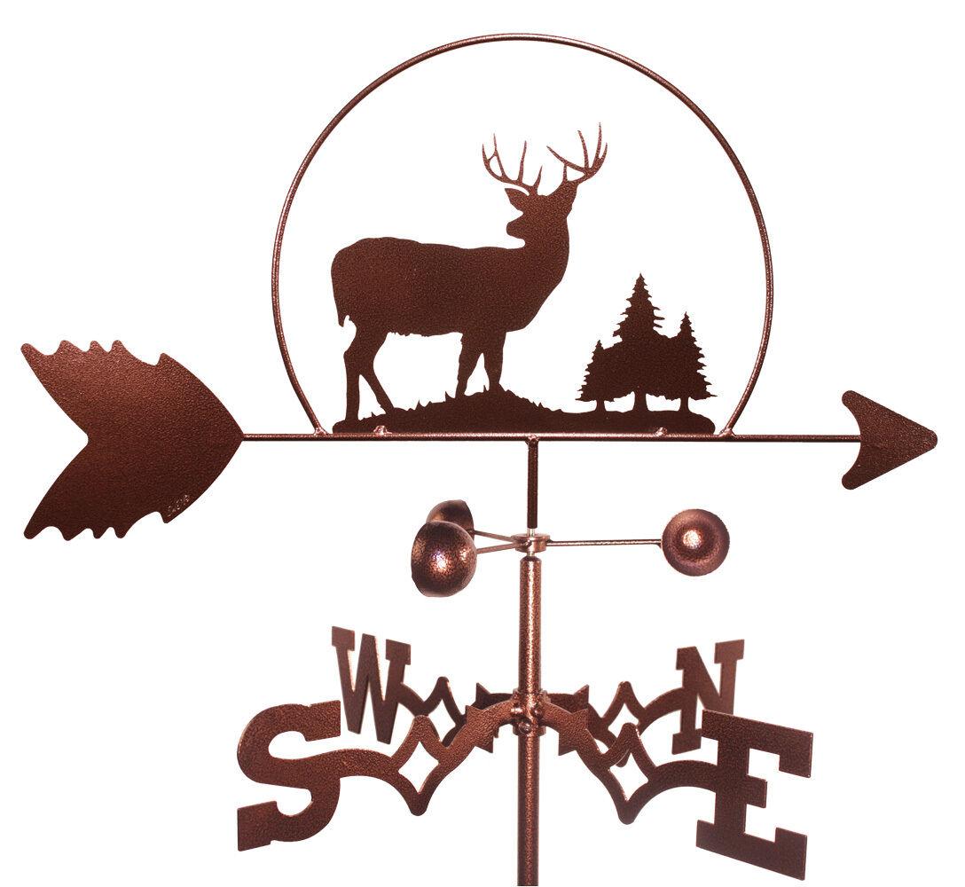 Deer Weathervane (Roof Mounting Included)