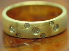 14kt 585 BICOLOR GOLD RING MIT 0,13ct BRILLANT BESATZ / DIAMANT / 4,5g / RG 50,5