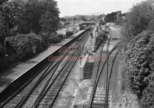 PHOTO-GWR-ST-AUSTELL-RAILWAY-STATION-VIEW-FROM-THE-ROAD-BRIDGE-OF-THE-STATION-1