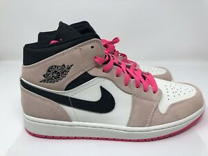 Details about Nike Air Jordan 1 Mid SE Men Shoes Size 12 Crimson Tint Pink  852542,801