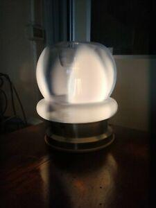 Lampada tavolo abatjour vetro soffiato di Murano 1960 design boccia 25 cm (h)