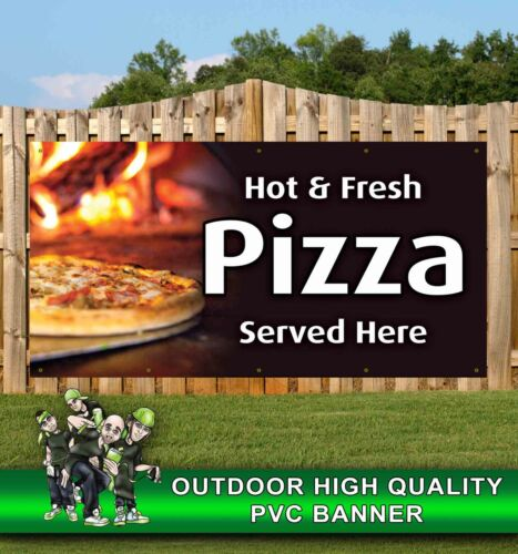 PIZZA SERVED HERE TAKEAWAY CAFE RESTAURANTE BANNER PROMOTIONAL PVC VARIOUS SIZES