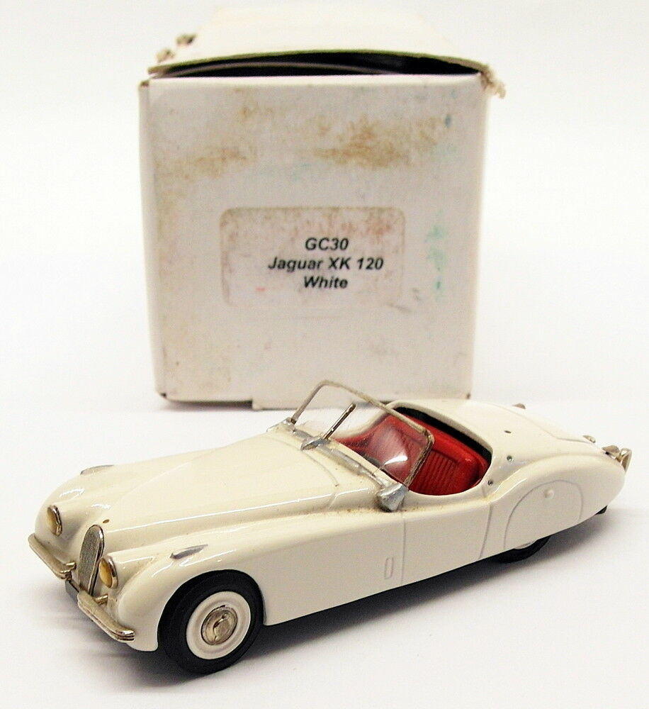 Gems & Cobwebs 1 43 Scale Model Car gc30 - 1950 Jaguar xk120-White