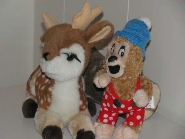 Dådyr kramme bamse+Rasmus klump bamse