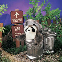Raccoon In A Garbage Can Puppet 2321 Ships Free In Usa Folkmanis Puppets