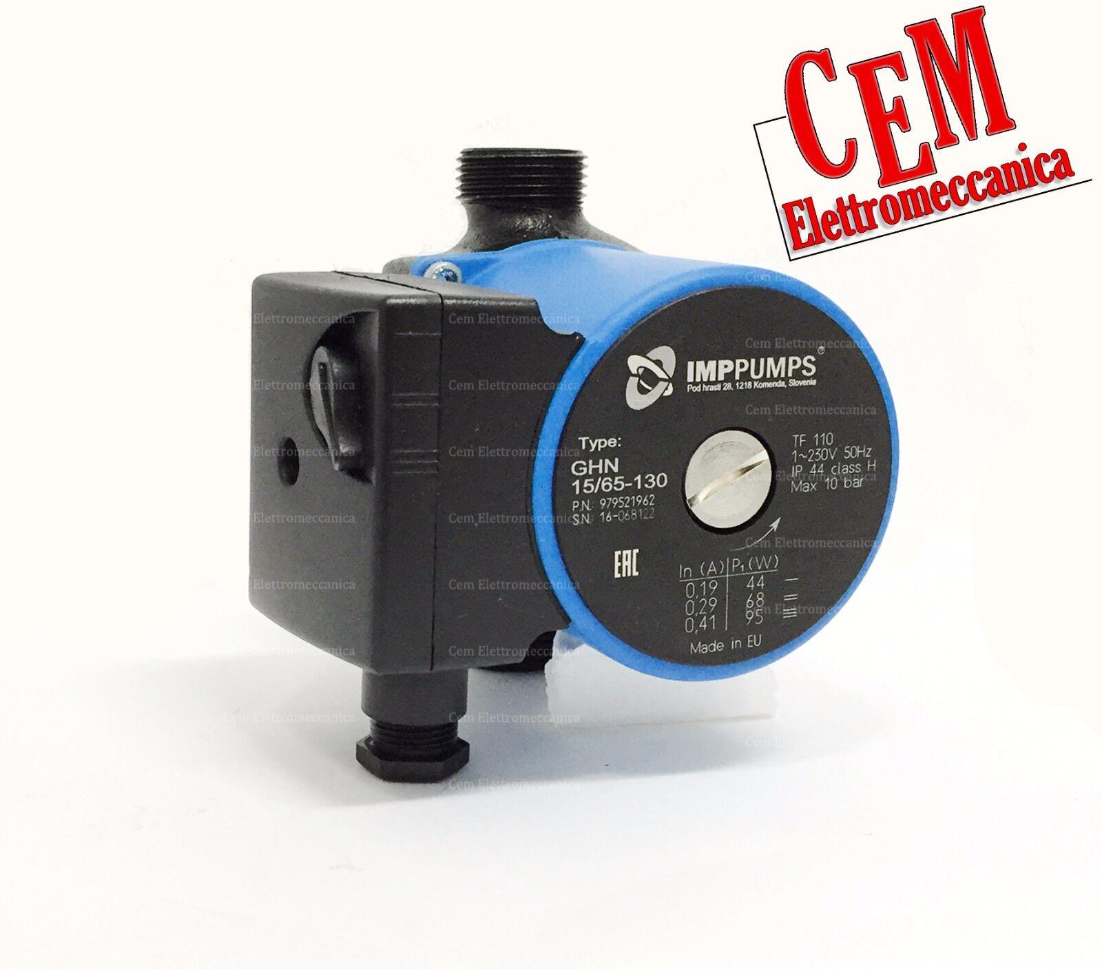 Circulateur Imp Pumps Ghn 15 65-130 -1   H 6,5 Metri Chaudière Pompe Chauffage