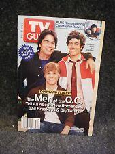 TV Guide October 2004 Men of the OC Peter Gallagher, Ben McKenzie, Adam Brody