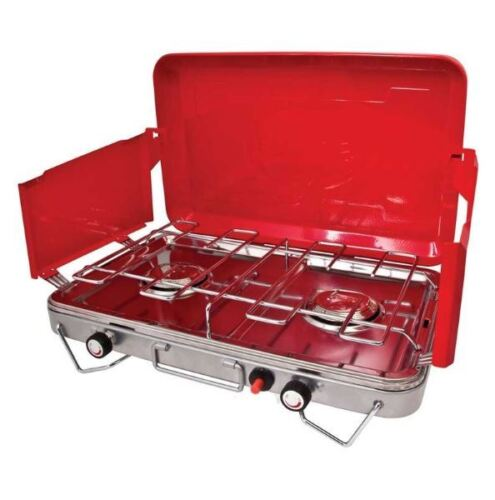 NEW PRIMUS 2 BURNER DELUXE STOVE STAINLESS STEEL DRIP TRAY PIEZO IGNITION CAMP