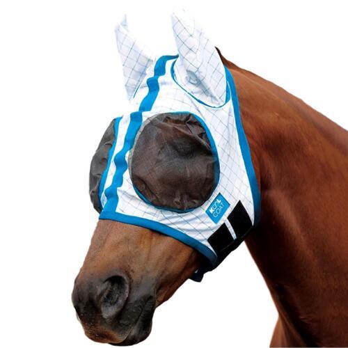Kool Manteau Lite Polyester Fly Mask avec oreilles et Maille Panneaux sur yeux